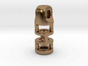 Tritium Lantern 3B (2.5x10mm Vial) in Natural Brass