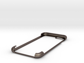 IPhone 6 shell 2 in Polished Bronzed Silver Steel