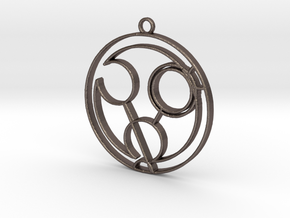 Hannah - Necklace in Polished Bronzed Silver Steel