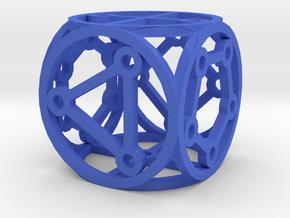 Dice6 in Blue Processed Versatile Plastic