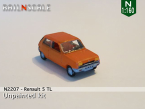 Renault 5 TL (N 1:160) in Smooth Fine Detail Plastic