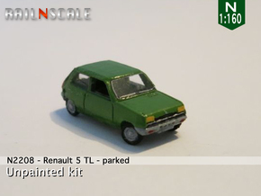 Renault 5 TL - Parked (N 1:160) in Smooth Fine Detail Plastic
