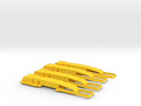 O Gauge AWS Magnets in Yellow Strong & Flexible Polished
