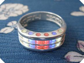 US14 Ring XVI: Tritium in Polished Silver