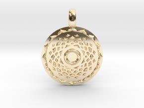SAHASRARA Crown Chakra Jewelry Pendant in 14K Yellow Gold