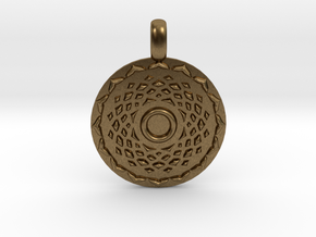 SAHASRARA Crown Chakra Jewelry Pendant in Natural Bronze