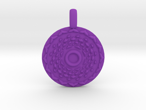 SAHASRARA Crown Chakra Jewelry Pendant in Purple Processed Versatile Plastic