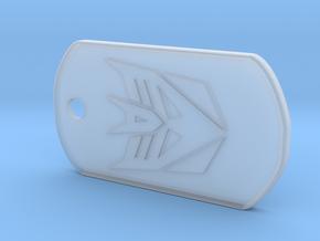 Decepticon Dog Tag (Rimmed) in Smooth Fine Detail Plastic