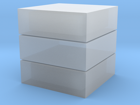 Cubic 1x1x3 2cm in Smooth Fine Detail Plastic
