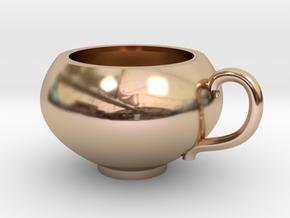 Pendentif Tasse de Thé - Pendant Teacup in 14k Rose Gold