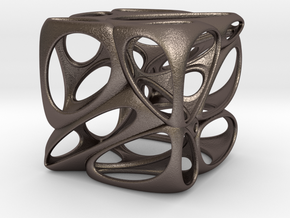 Organic in Polished Bronzed Silver Steel