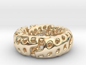 Zig-Zag Torus Knot (17.7mm diameter, ~US size 7.5) in 14K Yellow Gold