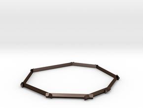 Geometric Bangle in Matte Bronze Steel