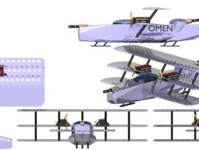 Omen Light Fighter 1:600 x16 in Smooth Fine Detail Plastic