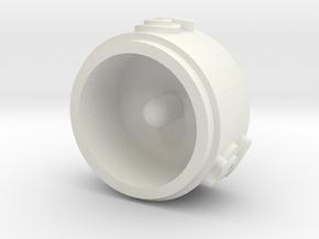 Trihelm in White Natural Versatile Plastic