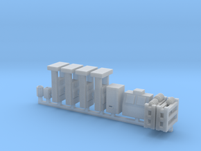 Modern Gas Station Accessories - HOscale in Smooth Fine Detail Plastic