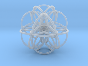 Seed of Life: Cuboctahedral Flower in Smooth Fine Detail Plastic