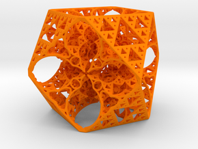 Geoorganic Squareangle Spheres in Orange Processed Versatile Plastic