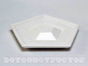 Saucer for the Icosahedral Cup in Gloss White Porcelain