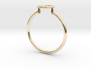 Open Circle Ring Sz. 7 in 14K Yellow Gold