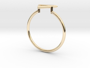 Open Triangle Ring Sz. 8 in 14K Yellow Gold