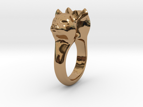 Bobcat Ring in Polished Brass