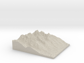 Model of Amphitheater Lake in Natural Sandstone