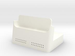 Iphone 6 Plus Dock in White Processed Versatile Plastic