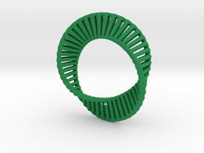 Marching Mobius Squares in Green Processed Versatile Plastic