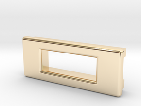 Screen Cradle - Rectangle with Filet Edges in 14K Gold
