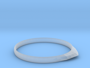 Edge Ring US Size 8 5/8 UK Size R in Smooth Fine Detail Plastic
