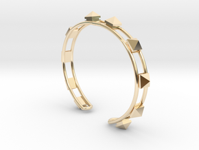 Open Studded Cuff in 14K Gold