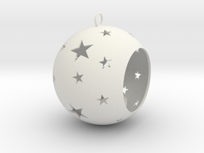 Christmas Bauble Tealight Stars in White Natural Versatile Plastic