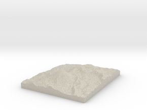 Model of South Crater in Natural Sandstone