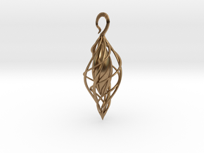 Spiral Seed 2 in Natural Brass