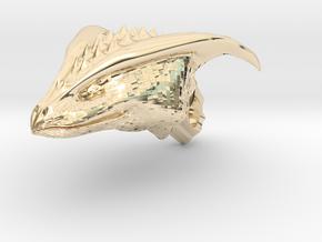 Dragon Head pendant in 14K Yellow Gold
