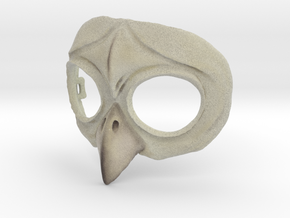 Owl Mask in Full Color Sandstone