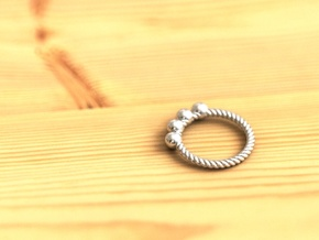 Spiral Ring  in Premium Silver