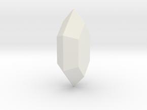 LoZ Rupee in White Natural Versatile Plastic