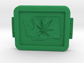 Pot Box lid in Green Processed Versatile Plastic
