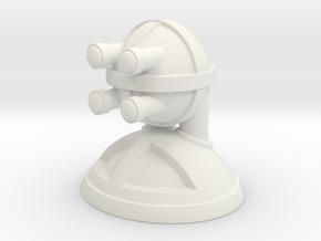 'Robust' robot bust design, model M7-002 in White Natural Versatile Plastic