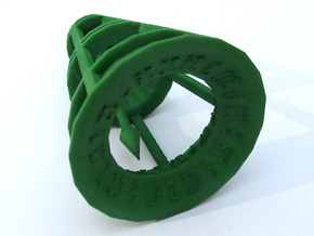 Rolling Bell d20 in Green Processed Versatile Plastic