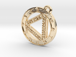 STEM Circle Pendant in 14K Yellow Gold