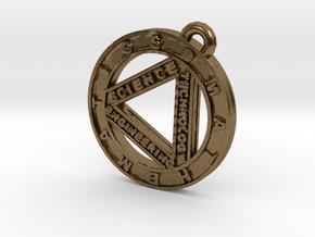 STEM Circle Pendant in Natural Bronze