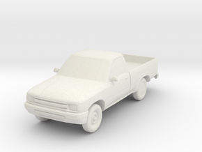 1:87 1992 Toyota Pickup in White Natural Versatile Plastic