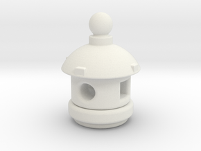 Spirit House - Small in White Natural Versatile Plastic