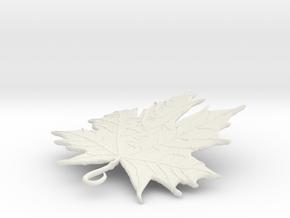 LEAF PENDANT in White Natural Versatile Plastic