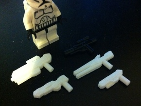 Custom weapon system pack for Lego minifigs in White Strong & Flexible