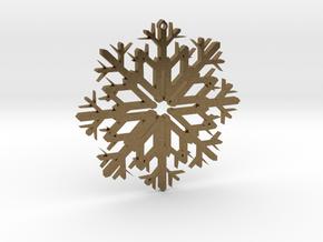 SnowFlake Design in Natural Bronze