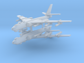 1/700 Xian H-6 Bomber (Tu-16) (x2) in Smooth Fine Detail Plastic